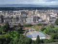 Aerial view of Edinburgh, the capital of Scotland. Royalty Free Stock Images