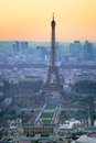 Aerial view of the eiffel tower in paris Royalty Free Stock Photography