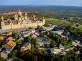 Aerial view of El Escorial II Royalty Free Stock Photo