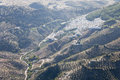 Aerial view of el gastor in andalusia spain Royalty Free Stock Image