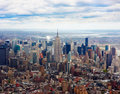 Aerial view of Empire state building Royalty Free Stock Image