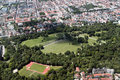 Aerial view of english garden munich englischen garten at germany Royalty Free Stock Photography