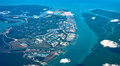 Aerial view of estuary malaysia Royalty Free Stock Photography