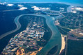 Aerial View of Estuary Royalty Free Stock Photo