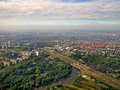 Aerial view of famous Amsterdam Zuid Holland Royalty Free Stock Photo
