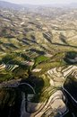 Aerial view at farm fields Royalty Free Stock Images