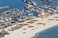 Aerial View on Florida Beach Stock Image