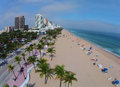 Aerial view of Fort Lauderdale Beach Royalty Free Stock Photo