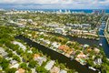 Aerial view of Fort Lauderdale Florida Las Olas Isles upscale single family homes Royalty Free Stock Photo