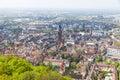 Aerial view of Freiburg im Breisgau, Germany Royalty Free Stock Photo