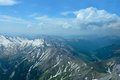 Aerial view of french Alps Royalty Free Stock Photography