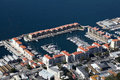 Aerial view gibraltar marina Stock Photos