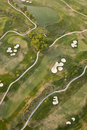 Aerial view of golf course Stock Photography