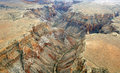 An aerial view of the grand canyon Stock Photography