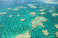 Aerial View of Great Barrier Reef Royalty Free Stock Photo