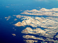 Aerial view of greenland west coast Royalty Free Stock Images