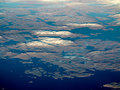Aerial view of greenland western coast Stock Photography