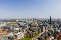 Aerial view of Hamburg city center, Germany Royalty Free Stock Photo