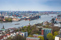 Aerial view of Hamburg. Typical street view from in Hamburg, Ger Royalty Free Stock Photo