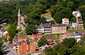 Aerial view Harpers Ferry national park Royalty Free Stock Photography