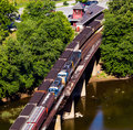 Aerial view Harpers Ferry rail station Royalty Free Stock Photo