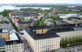 Aerial view of Helsinki Royalty Free Stock Photos