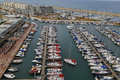 Aerial view of Herzliya Marina Royalty Free Stock Photo