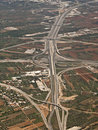 Aerial, view of a highway Stock Photos