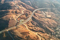 Aerial view of highway at dali yunnan china Royalty Free Stock Image