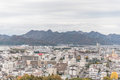 Aerial View of Himeji residence downtown from Himeji castle in Hyogo, Kansai, Japan Royalty Free Stock Photo