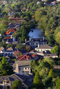 Aerial view of homes Royalty Free Stock Images