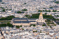 Aerial view on Hotel des Invalides Stock Photos