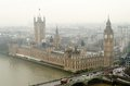 Aerial view of the houses parliament london uk Stock Photo