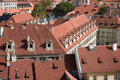Aerial view of houses in Praha, Czech Republic Royalty Free Stock Photography