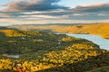 Aerial view of hudson valley and fort montgomery ny viewed from bear mountain on a sunny autumn afternoon Royalty Free Stock Photography