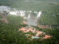 Aerial View Of Iguazzu Falls And Hotel Royalty Free Stock Photo