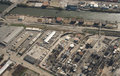 Aerial view of industrial site Royalty Free Stock Photo