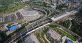 Aerial View : Integrated Transport Hub Royalty Free Stock Photo