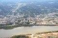 Aerial View of Jefferson City Missouri Royalty Free Stock Photo
