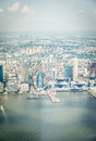 Aerial view on Jersey City Royalty Free Stock Photo