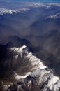 Aerial view of karakoram mountains of sinkiang china you can see frozen peaks and deep valley Stock Photos