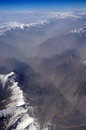 Aerial view of karakoram mountains of sinkiang china you can see frozen peaks and deep valley Stock Photography