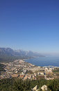 Aerial view of Kemer city, Turkey Royalty Free Stock Photo