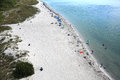 Aerial view of Key Biscayne Beach Royalty Free Stock Photo