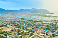 Aerial view from khao dang prachuap khiri khan thailand Stock Photos