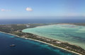 Aerial view of Kiritimati Island,  Kiribati. Royalty Free Stock Photo