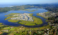 Aerial view of knysna in the garden route south africa Royalty Free Stock Images