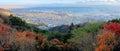 Aerial view of Kobe City from Mount Maya in Autumn season, Japan Royalty Free Stock Photo