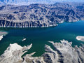 Aerial view of Lake Mead. Royalty Free Stock Photo