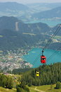 image photo : Aerial view of the lake St. Wolfgang, Austria